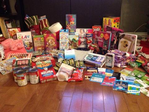 Christmas hamper for Stollery Families