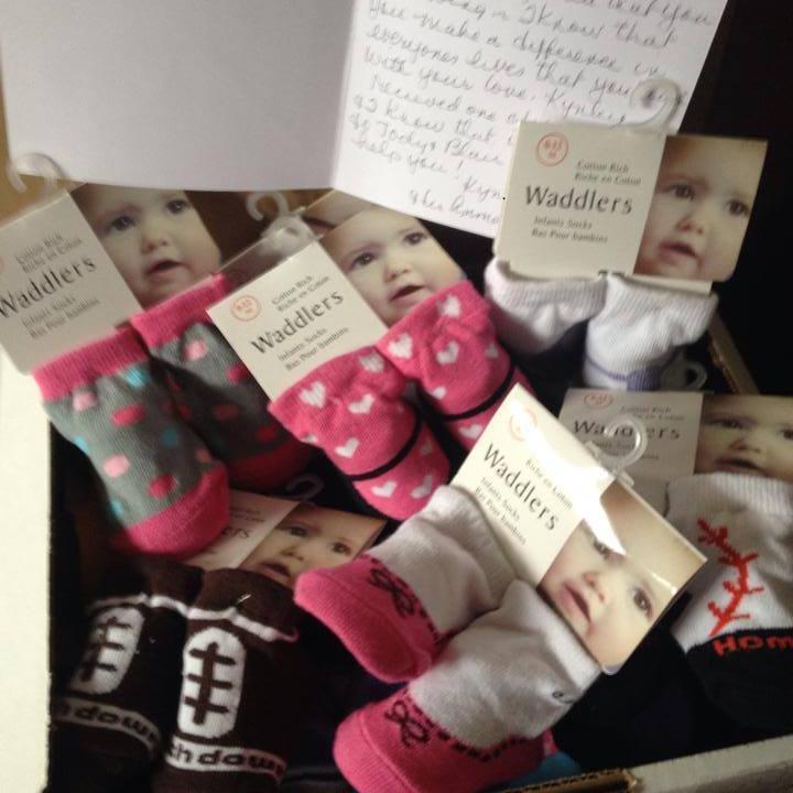 Socks for Madden's gift