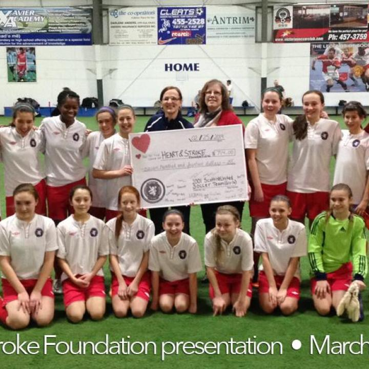 The Madden Deluca Donation from Scottish U 14 girls