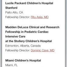 Madden DeLuca Clinical and Research Fellowship at the Stollery