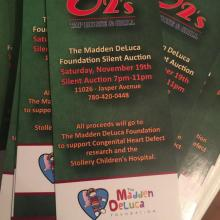 TIcket for the Madden Deluca Fdn Silent Auction