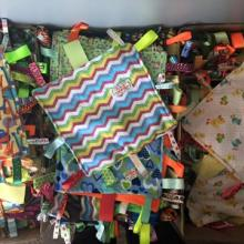 400 tag blankets for Madden donation