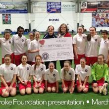 The Madden Deluca Donation from Scottish U 14 girls