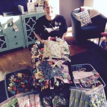 Rhonda blanket donation